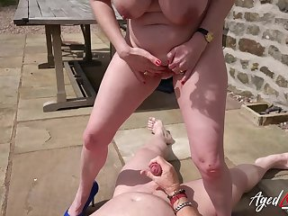 Outdoor hardcore fuck with Lily May unaffected by her back in main role