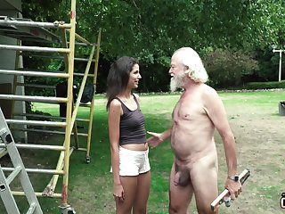 Plays a prank first of all an old impoverish and makes him get undressed