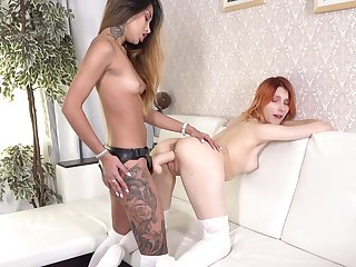 Lesbians are using the big guns to satisfy themselves
