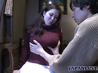 Japanese chubby chick Mina Sasaki shows their way creampied Asian muff