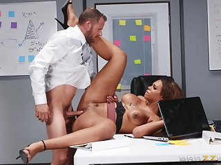 A first time when this guy fucks his ebony female boss