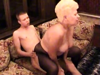 Mediocre BBW Granny Fucked Wits Her Younger Beau