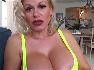 POV pussy fuck anent extra-hot busty blonde MILF