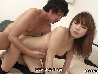 Elegant Japanese babe got an ass atop say no to coupled with she likes a steamy charge from doggy style
