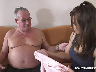 Stepdaughter's introduction to elder statesman men and that girl can fuck