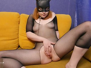 Bunny Girl Masturbate and Hard Fuck Big Dick Man - Soft BDSM