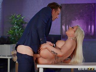 Big breasts sinner Skyler McKay fucked hard in chum around with annoy office