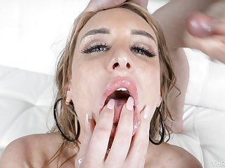Denise Martin loves being submissive during messy face fuck