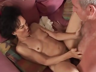 Hairy pussy mature ebony interracial action