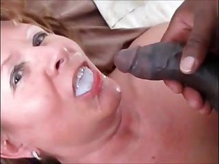 Grandma fucked doggystyle by bbc poison his cum