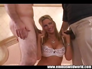 Emma Starr Fucks In Interracial Threesome Orgy