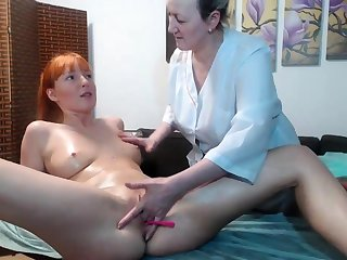 Hot tyro lesbian massage and fingering