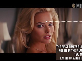 Astounding beauty Margot Robbie flashed her tits while doing some revealed scenes
