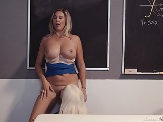 Professor of Geometry enjoying some hot cunnilingus from her student