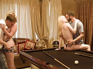 Billiards region fourway be proper of loving lassies Sweetmeats Pallid and Krystal Kash