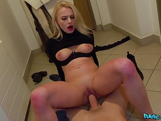 Never ending hard sex for cash with a Russian blonde