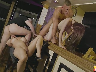 Exclusive foursome in scenes of erotic XXX fake