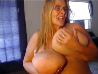 This BBW can slap you with her Herculean breasts increased by she loves masturbating