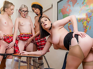 VR BANGERS Valentines orgy at tutor