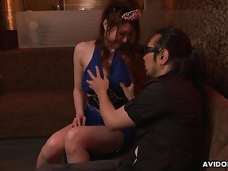 Japanese escort Yuka Kurosawa  is fucked and creampied by two clients in acetous club