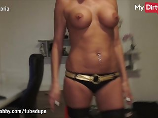 MyDirtyHobby - Gorgeous blonde MILF fucked by outsider