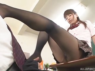 Inferior film over of a lucky guy having sex with a kinky Asian tutor