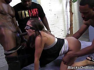 Jamie Jackson interracial gangbang