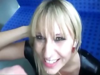 Coitus In The Train With Pretty Milf. Cum Swallow