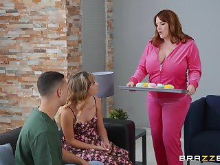 Chubby MILF is keen with reference to attempt daughter's boyfriend for a few fuck walk a beat