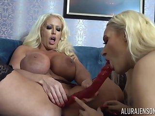 Alura Jenson and Dolly Fox lesbian MILF sex